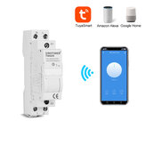 SINOTIMER TM609 Home Smart 18mm 1P WiFi Remote APP Controle Stroomonderbreker Timing Switch Trap Timer Din Rail Universeel 110V 220V AC Input