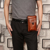 Men Genuine Leather Waist Bag Shoulder Bag Phone Bag