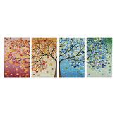 4 stks Canvas Wall Art Schilderen 40 * 60 cm Opknoping Foto 'S Seizoen Bomen Living Hall Decoratie Levert geen Frame