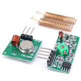 3pcs 433MHz RF Wireless Receiver Module Transmitter kit + 2PCS RF Spring Antenna OPEN-SMART for Arduino - products that work with official for Arduino boards