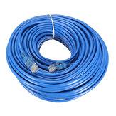 25m Blue Cat5 65FT RJ45 Ethernet Kablosu Cat5e için Cat5 RJ45 İnternet Ağı LAN Kablosu Konektör