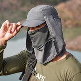 太陽の保護カバーフェイスバイザー屋外釣り帽子夏速乾性キャップ通気性帽子野球帽