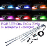 4X Sob o tubo do carro Neon Kit de luz de tira 60 / 90cm LED Underglow Underbody 12V UK