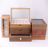6/10/12 Slots Solid Wooden Watch Box Display Organizer Jewelry Storage Case