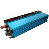 6000 W szczytowa czysta fala sinusoidalna falownik solarny 12/24 V DC na 110 V AC konwerter cyfrowy wyświetlacz
