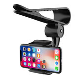 Bakeey Universal 360° Adjustable GPS Car Clip Sun Visor Cell Phone Holder For Most smartphones Such For Samsung For iphone Xiaomi Huawei