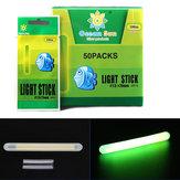 50個/ボックス7.5×75ミリメートル光釣りフロートライトチューブ緑色の蛍光グロースティックナイトフィッシング
