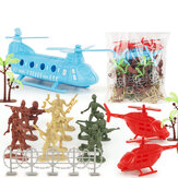 86Pcs PVC Military Soldier Static Diecast Model Decoration Toy Set for Kids Gift