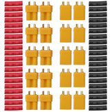 10 Pair URUAV XT30U Male Female Bullet Connectors Power Plug with Heat Shrink Tubing for Lipo Batter