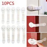 10Pcs Baby Cute Safety Lock Cabinet Drawer Fridge Furniture Safe Door Lock For Child Infant Kids