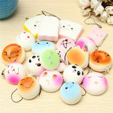 20PCS Willekeurige Medium Mini Squishy Soft Panda Bread Cake Buns Telefoonbanden
