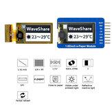Waveshare®1.02インチe-ペーパーe-インクスクリーンモジュールベアスクリーンオプションの部分リフレッシュ