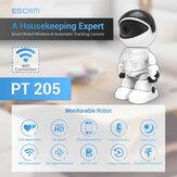 ESCAM PT2051080PロボットIPカメラセキュリティカメラ360°WiFiワイヤレス2MPCCTVカメラスマートホームビデオ監視P2P隠しベビーモニター