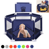 6 Sided Foldable Baby Playpen Playing House Interactive Kids Toddler Room With Safety Gate