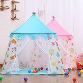Hercegnő vár nagy játék sátor gyerekek játszani ház hordozható gyerek sátrak lány szabadtéri beltéri sátor