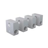 Anet® 4Pcs 20 * 20 * 10mm Φ6 M6 Blocco riscaldante in alluminio per stampante Prusa i3 3D Hot End estrusore