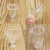 DIY Mini Cup Creamy Soil Sticks Goblets Sticky Minerals Mini Transparent Plastic Cooking