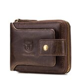 Bullcaptain RFID Antimagnetic Vintage Genuine Leather Wallet