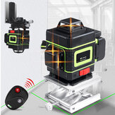 360° Rotary 3D 16 Line Self Leveling Laser Level Measure with Wall Bracket + Remote