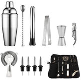 Muti-funtion Stainless Steel Cocktail Shaker Set Ice Tong Mixer Drink Bartender Browser Kit Bars Set Professional Bartender Tool