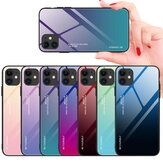 Bakeey for iPhone 12/ for iPhone 12 Pro 6.1 inch Case Gradient Color Tempered Glass Shockproof Scratch Resistant Protective Case