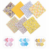 DIY 7PCS Quilting Bundle Patchwork Cotton Fabric Handmade Sewing Crafts Floral