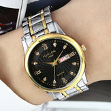 FEDYLON Men Fashion Week Hari Tampilan Quartz Watch