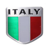 Italy Flag Alloy Metal Auto Racing Sports Emblem Badge Decal Sticker