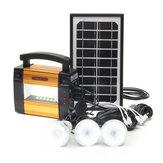 LM-367 110-240V Générateur solaire panneau solaire alimenté par système 3 LED Générateur de lampes