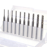 Drillpro DB-M3 10 stks 1.3mm-3.175mm Carbide End Mill Graveren Bits voor CNC PCB Rotary Bramen