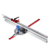 Woodworking 450mm 0-90 Degree Angle Miter Gauge System with 600/800mm Aluminum Alloy Fence and Stop Sawing Assembly Ruler for Table Saw Router Table Miter Saw