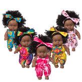 8 дюймов Силиконовый винил Платье вверх модная африканская девушка реалистичный реборн реалистичный новорожденный Кукла игрушка для дете