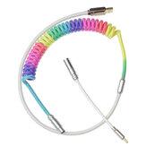 Спиральный кабель MechZone Custom Механический Клавиатура DIY Спиральный кабель Rainbow USB C Type-C Кабель в оплетке