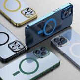 Bakeey para iPhone 12 Pro/12 Caso Adsorción magnética Magsafe Plating PC transparente ultrafino no amarillo Protective Caso