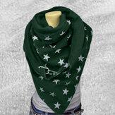 נשים כותנה Plus עבה שמור על חם חורף דפוס כוכבים מזדמן חיצוני צעיף רב תכליתי