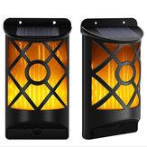 屋外ソーラーガーデンフレーム96LEDライトフレームちらつき効果屋外ウォールランプ防水