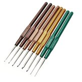 8Pcs 13.7cm Plastic Crochet Hooks Multicolor SofT-handle Knitting Needles Set