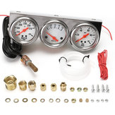 Universal 2.27inch Gauge Water Temp VOLTAGE Volt Oil Pressure Complete SET W/ Panel