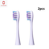2PCS Oclean P2G Replacement Brush Heads Suitable for All Oclean Toothbrush Models - Light Purple