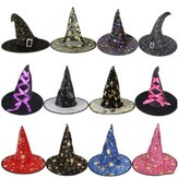 Halloween Costume Witch Hats Masquerade Ribbon Wizard Hat Adult Kids Cosplay for Party Birthday Carnival Top Hats Cap