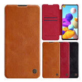 Nillkin for Samsung Galaxy A21s Case Bumper Flip Shockproof with Card Slot PU Leather Full Cover Protective Case