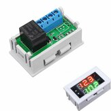 Mini 12V 20A Digital LED Dual Relay Timer Display con ciclo di temporizzazione del caso