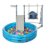 Σετ Swing 3 in1 για παιδική χαρά στην αυλή Slide Fun Playset Υπαίθρια Swing Slide με μπάλα μπιλιάρδου Παιχνίδια δώρο για μικρά παιδιά 2-4 ετών