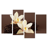 4Pcs White Orchids Flower Canvas Gemälde Wand dekorative Druckkunst Bilder rahmenlose Wandbehang Dekorationen für Home Office