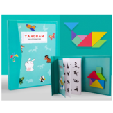Colorful Wooden Magnetic Tangram Puzzle Early Childhood Education Puzzle Indoor Toys