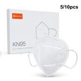 DIGOO DG-KN95 5 / 10PCS KN95 Cara de 4 capas Mascara Anti Gotas Polvo Coche Escape Respirador plegable Protección Mascara Respirador de filtro
