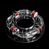 4 Coil Ring Accelerator Cyclotron High-tech Toy Physical Model DIY Kit Children Gift Toys