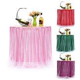 75 * 100 cm Tafel Rok Servies Bruiloft Xmas Baby Shower Verjaardag Decor Benodigdheden