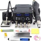 2 in 1800 W LED Digitale Soldeerstation Hot Air Heater Rework Station Elektrische Soldeerbout voor Telefoon PCB IC SMD BGA Lassen