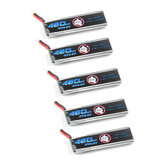 5X Eachine 3.8V 460mAh 50C / 100C 1S Lipo Batterie Sortie 60 * 18 * 7mm PH2.0 pour drone de course Novice-II FPV